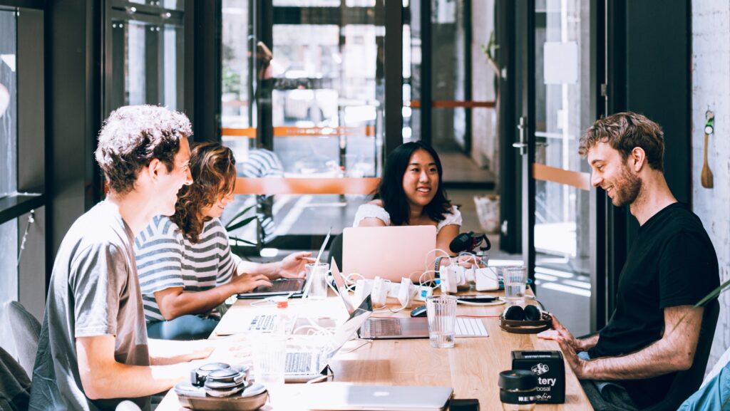 Un espace de coworking aux États-Unis